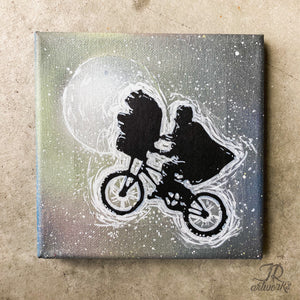 """E.T. PHONE HOME"" 6X6' ORIGINAL ARTWORK + FREE PRINT + FREE SHIPPING!"