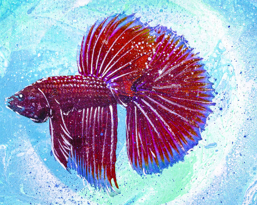 BETTA 12X12' ORIGINAL ARTWORK - JRartworks
