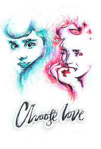 CHOOSE LOVE ILLUSTRATION PRINT - JRartworks