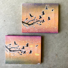 Load image into Gallery viewer, MINI ORIGINAL SUMMER SUNSET DUO PAINTING (SOLD AS SET) + FREE SHIPPING!