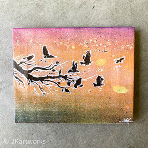 MINI ORIGINAL SUMMER SUNSET DUO PAINTING (SOLD AS SET) + FREE SHIPPING!