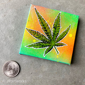 MINI ORIGINAL BOTANICAL GLORY PAINTING + FREE SHIPPING!