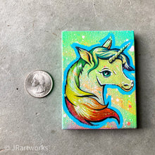 Load image into Gallery viewer, MINI ORIGINAL UNICORNY PAINTING + FREE SHIPPING!