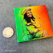 Load image into Gallery viewer, MINI ORIGINAL BOB MARLEY II PAINTING + FREE SHIPPING!