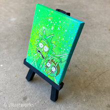 Load image into Gallery viewer, MINI ORIGINAL RICK AND MORTY PAINTING + FREE SHIPPING!