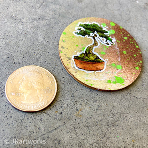 MINI ORIGINAL TINY TREE PAINTING + FREE SHIPPING!