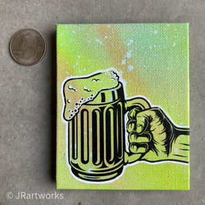 MINI ORIGINAL BEER ME PAINTING + FREE SHIPPING!