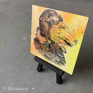 MINI ORIGINAL POLAR PILOT PAINTING + FREE SHIPPING!