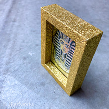 "Load image into Gallery viewer, ""FANCY"" MINI ORIGINAL KING TUT FRAMED PAINTING + FREE PRINT + FREE SHIPPING!"