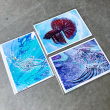 Load image into Gallery viewer, MINI (FRAMED) ORIGINAL JELLYFISH PAINTING + LIMITED PRINTS + FREE SHIPPING!
