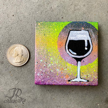 Load image into Gallery viewer, MINI ORIGINAL WINE PAINTING + FREE SHIPPING!