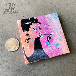 MINI ORIGINAL AUDREY PAINTING + FREE SHIPPING!