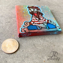 Load image into Gallery viewer, MINI ORIGINAL WALDO FINDS HIMSELF PAINTING + FREE SHIPPING!