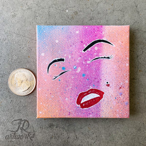 MINI ORIGINAL MARILYN'S SMILE PAINTING + FREE SHIPPING!