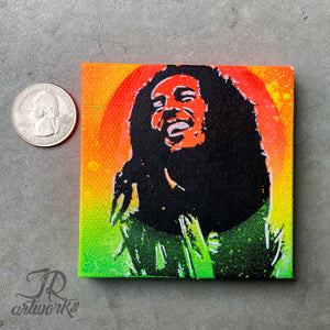 MINI ORIGINAL BE HAPPY PAINTING + FREE SHIPPING! + PROCEEDS DONATED!