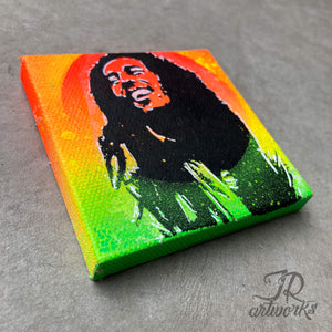MINI ORIGINAL BE HAPPY PAINTING + FREE SHIPPING!