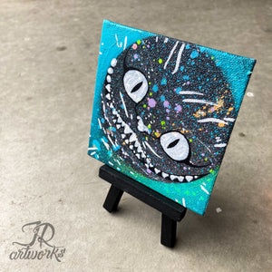 MINI ORIGINAL CHESHIRE PAINTING + FREE SHIPPING!