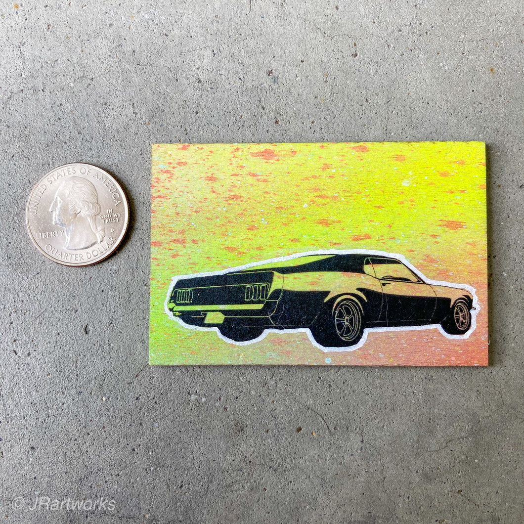 MINI ORIGINAL MUSTANG PAINTING + FREE SHIPPING!