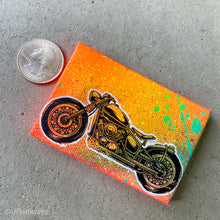 Load image into Gallery viewer, MINI ORIGINAL MOTORCYCLE PAINTING + FREE SHIPPING!
