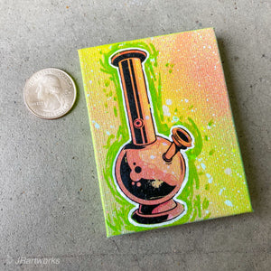 MINI ORIGINAL ITS THE WEEKEND PAINTING + FREE SHIPPING!