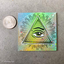Load image into Gallery viewer, MINI ORIGINAL ALL SEEING EYE PAINTING + FREE SHIPPING!