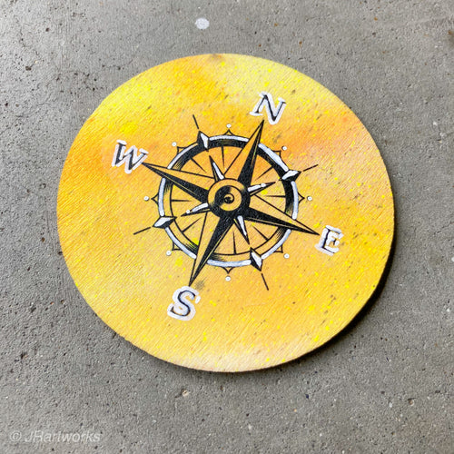 MINI ORIGINAL COMPASS II PAINTING + FREE SHIPPING!