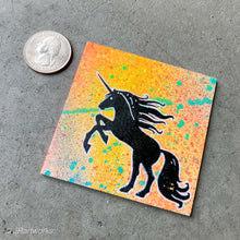 Load image into Gallery viewer, MINI ORIGINAL UNICORN PAINTING + FREE SHIPPING!