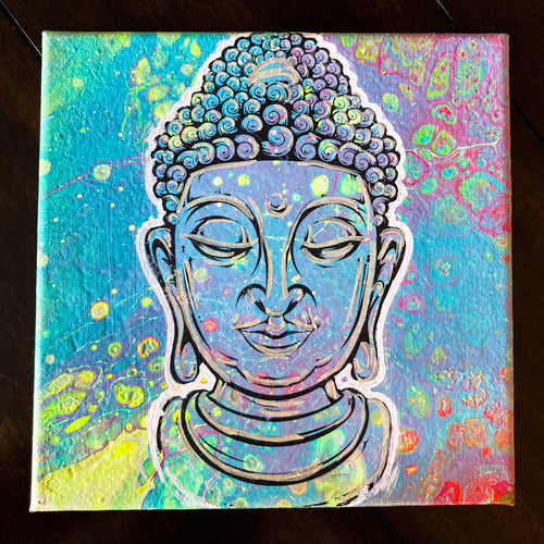8x8' ORIGINAL ZEN ARTWORK II + FREE SHIPPING! + 2 FREE PRINTS! - JRartworks