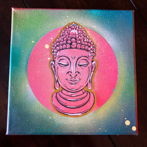 8x8' ORIGINAL ZEN ARTWORK + FREE SHIPPING! + 2 FREE PRINTS! - JRartworks