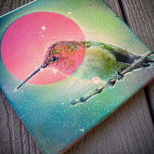 Load image into Gallery viewer, 8x8' ORIGINAL HUMMINGBIRD ARTWORK + FREE SHIPPING! + 2 FREE PRINTS!