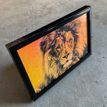 Load image into Gallery viewer, MINI ORIGINAL FRAMED LION PAINTING + FREE PRINT + FREE SHIPPING!