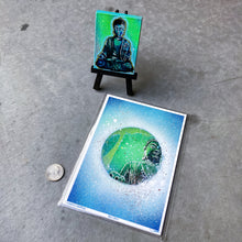 Load image into Gallery viewer, MINI ORIGINAL NAMASTE PAINTING + LIMITED PRINT + FREE SHIPPING!