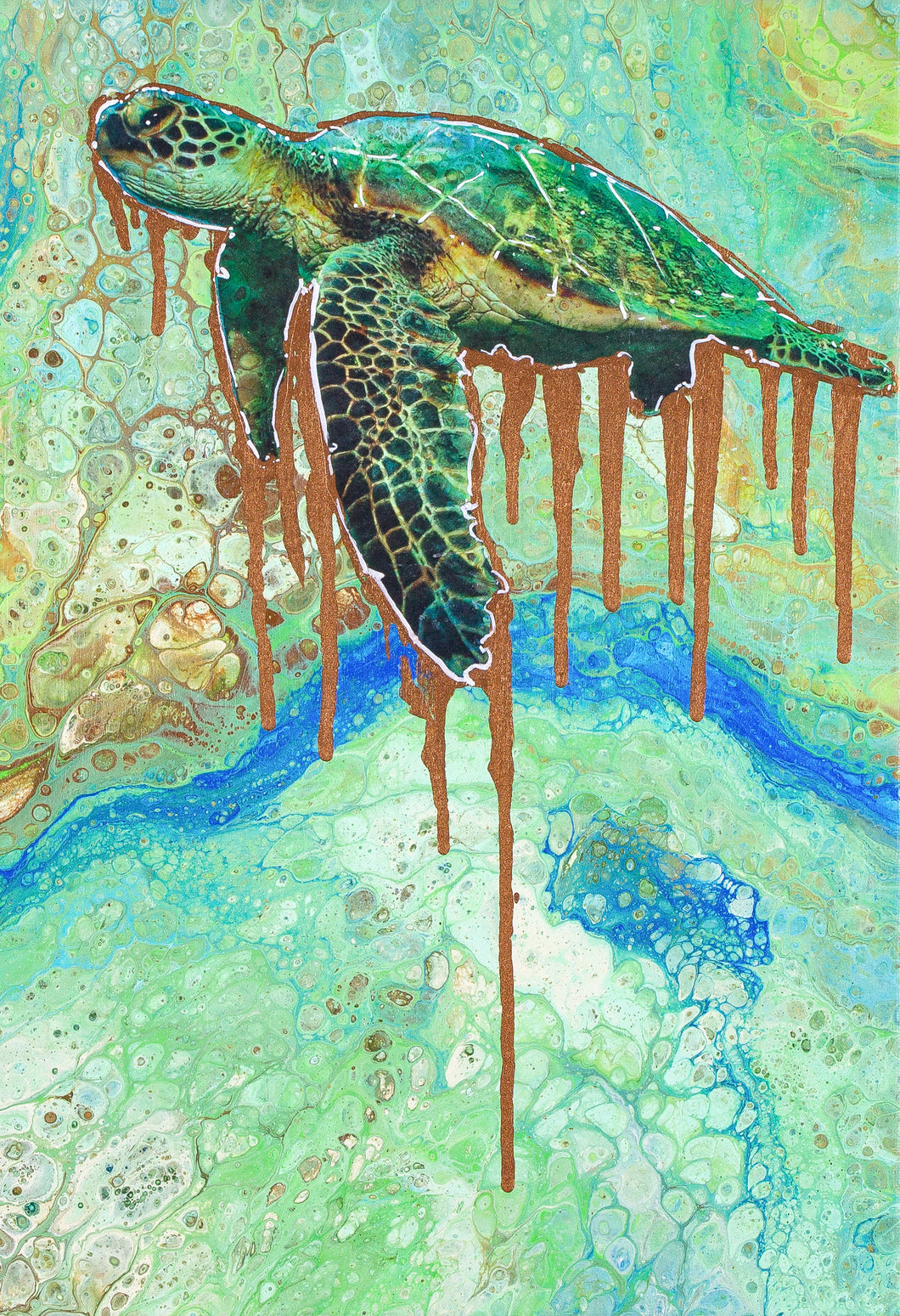 TOXIC TURTLE 12X16' ORIGINAL ARTWORK - JRartworks