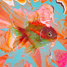 Load image into Gallery viewer, RETRO GOLDFISH 12X12' (UV LIGHT ACTIVATED!) ORIGINAL ARTWORK - JRartworks