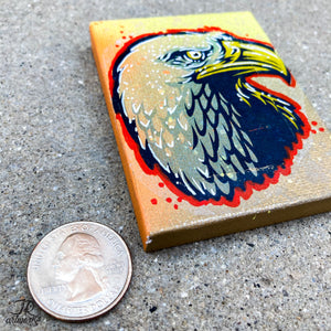 MINI ORIGINAL PARANOID EAGLE PAINTING + FREE SHIPPING!
