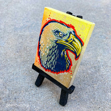 Load image into Gallery viewer, MINI ORIGINAL PARANOID EAGLE PAINTING + FREE SHIPPING!
