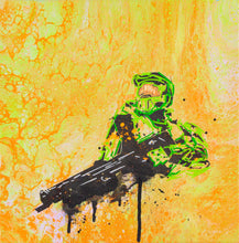 Load image into Gallery viewer, MASTER CHIEF 12X12' ORIGINAL ARTWORK - JRartworks