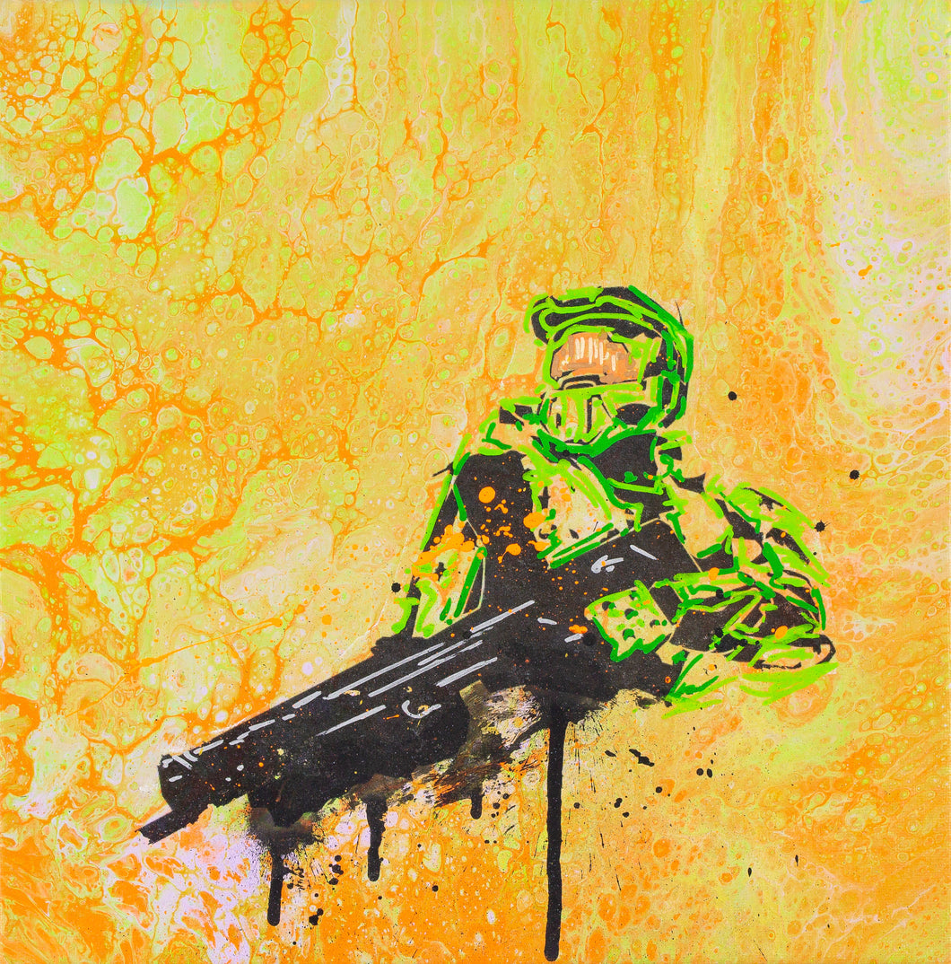 MASTER CHIEF ART PRINT - JRartworks