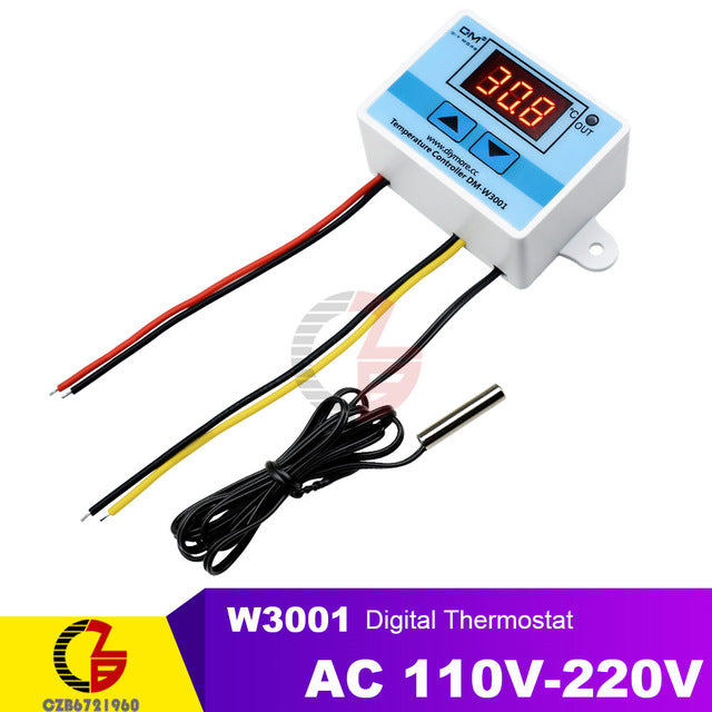 LED Digital Temperature Controller Thermostat Incubator Fridge Heating Cooling