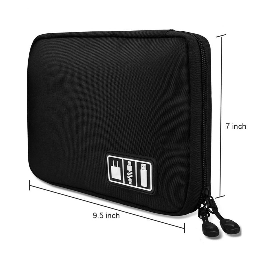 Portable Travel zipper USB Cable Bag