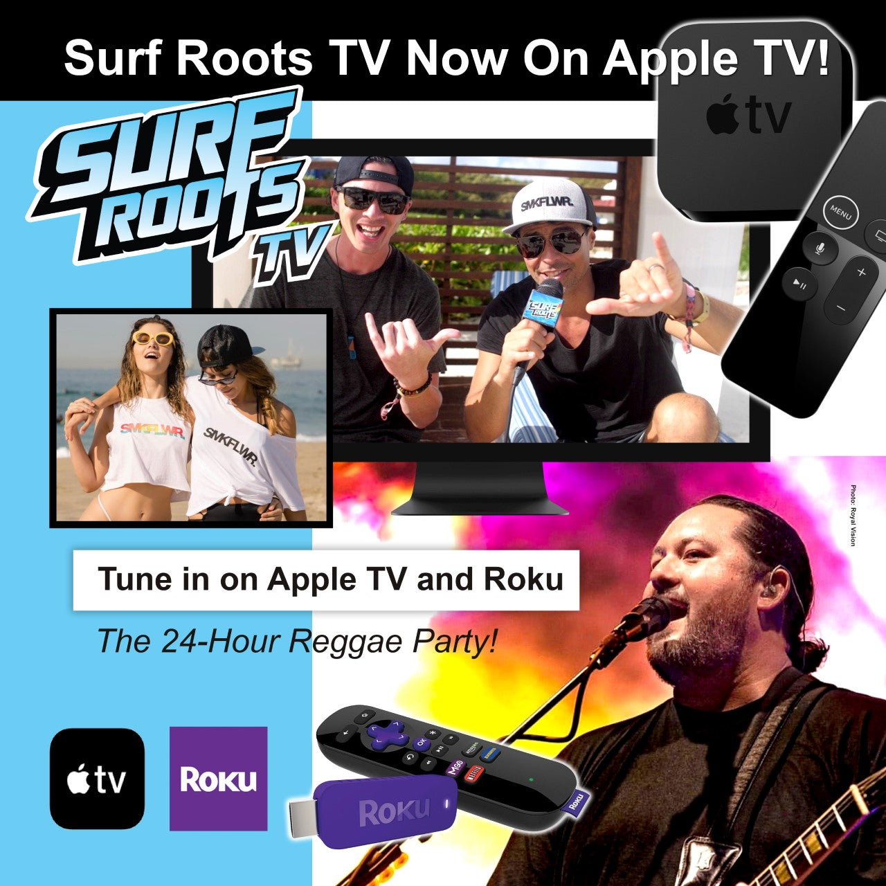Surf Roots TV expanding to Apple TV on Feb 6th!