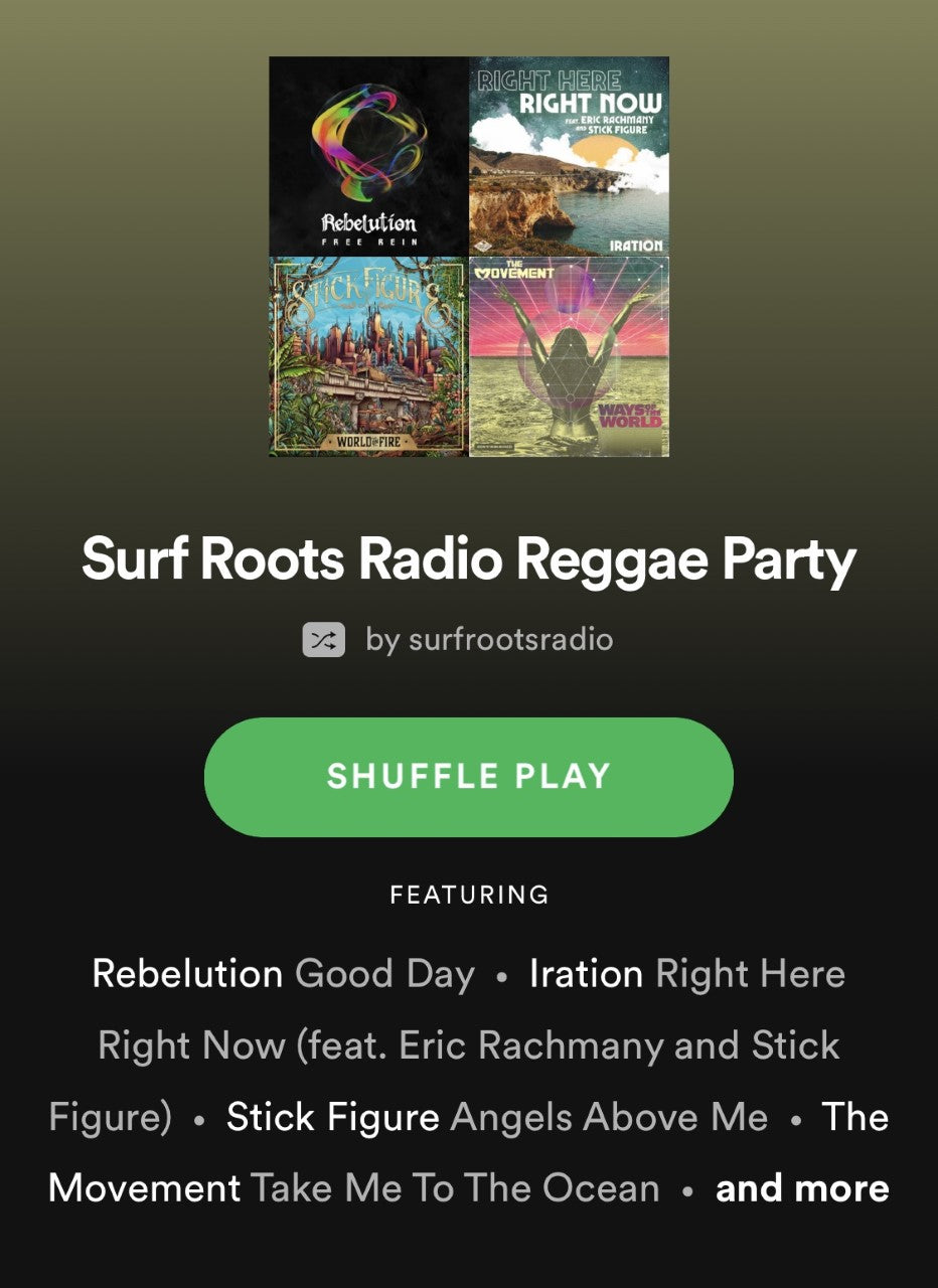 """Surf Roots Radio Reggae Party"" New Playlist on Spotify"