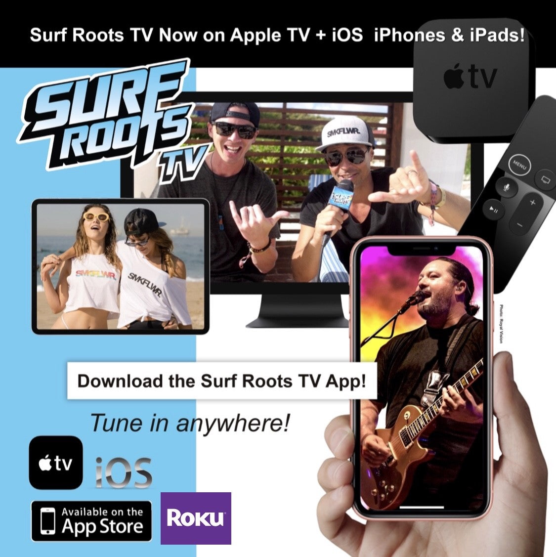 Surf Roots TV App now on iPhone & iPad!