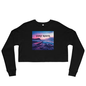 Sunset Surf Roots Crop Sweatshirt