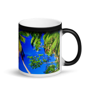 Surf Roots Tropical Matte Black Magic Mug