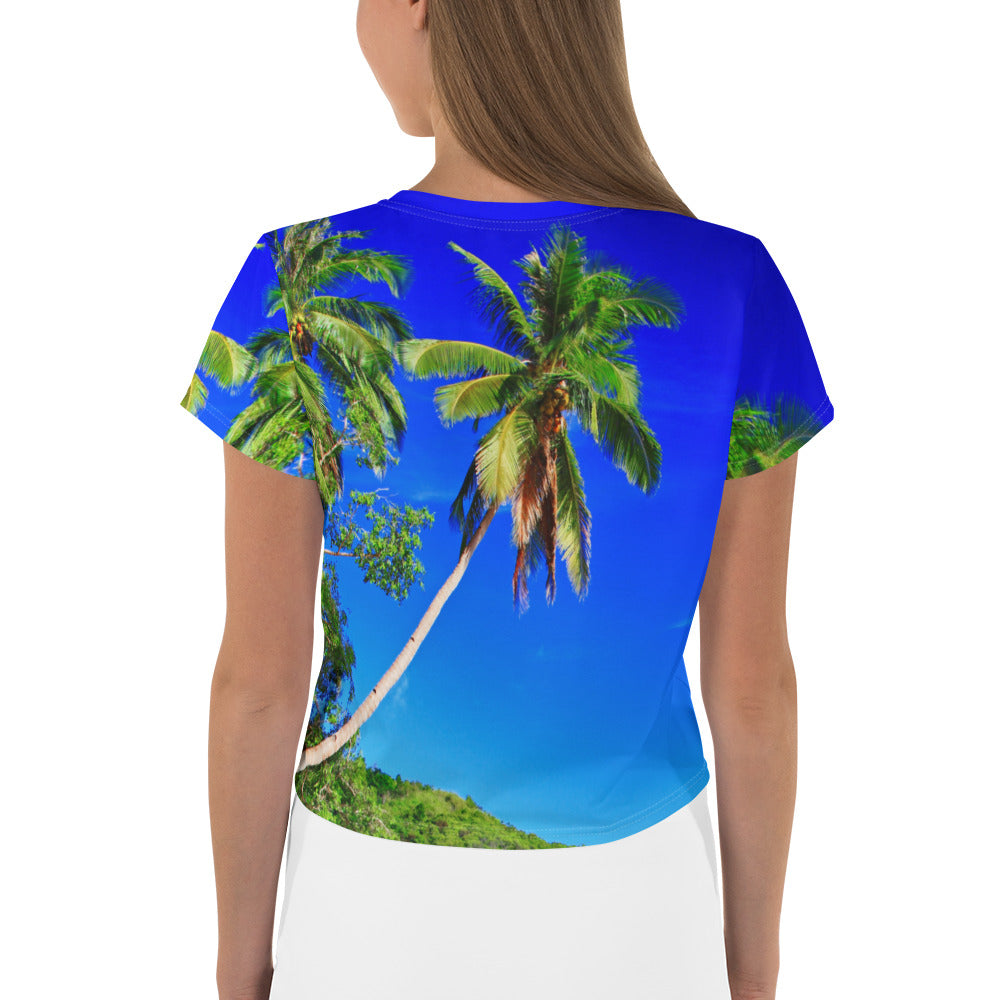 Surf Roots Tropical Crop Tee