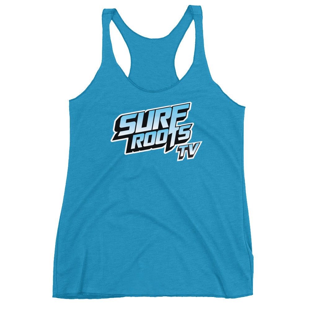 Surf Roots TV Women's Racerback Tank