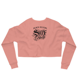 Surf Roots Beach Reggae Crop Sweatshirt