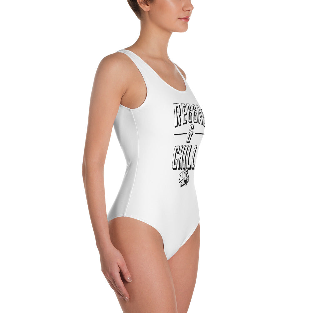 Reggae & Chill Vintage One-Piece Swimsuit