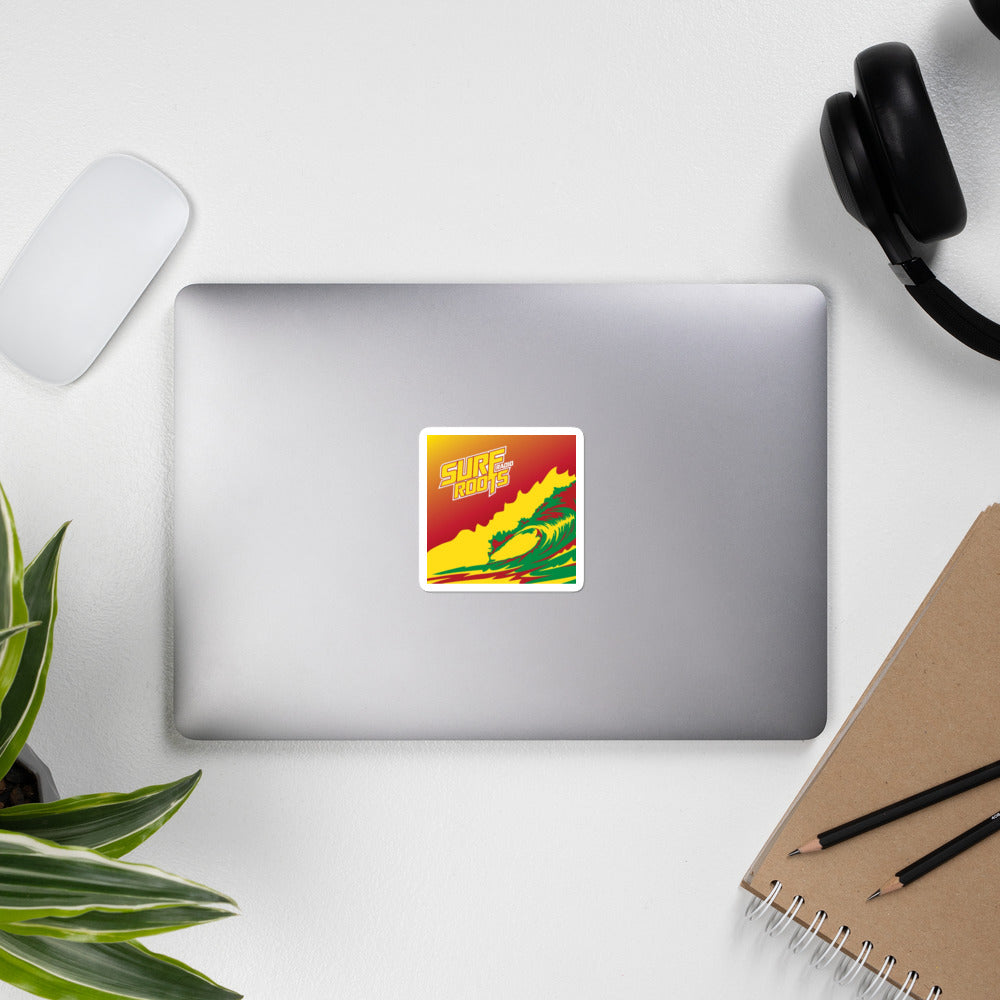Surf Roots Rasta Wave Stickers
